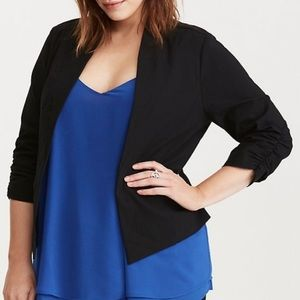 Torrid Deluxe Stretched Rushed Sleeved Blazer 2X